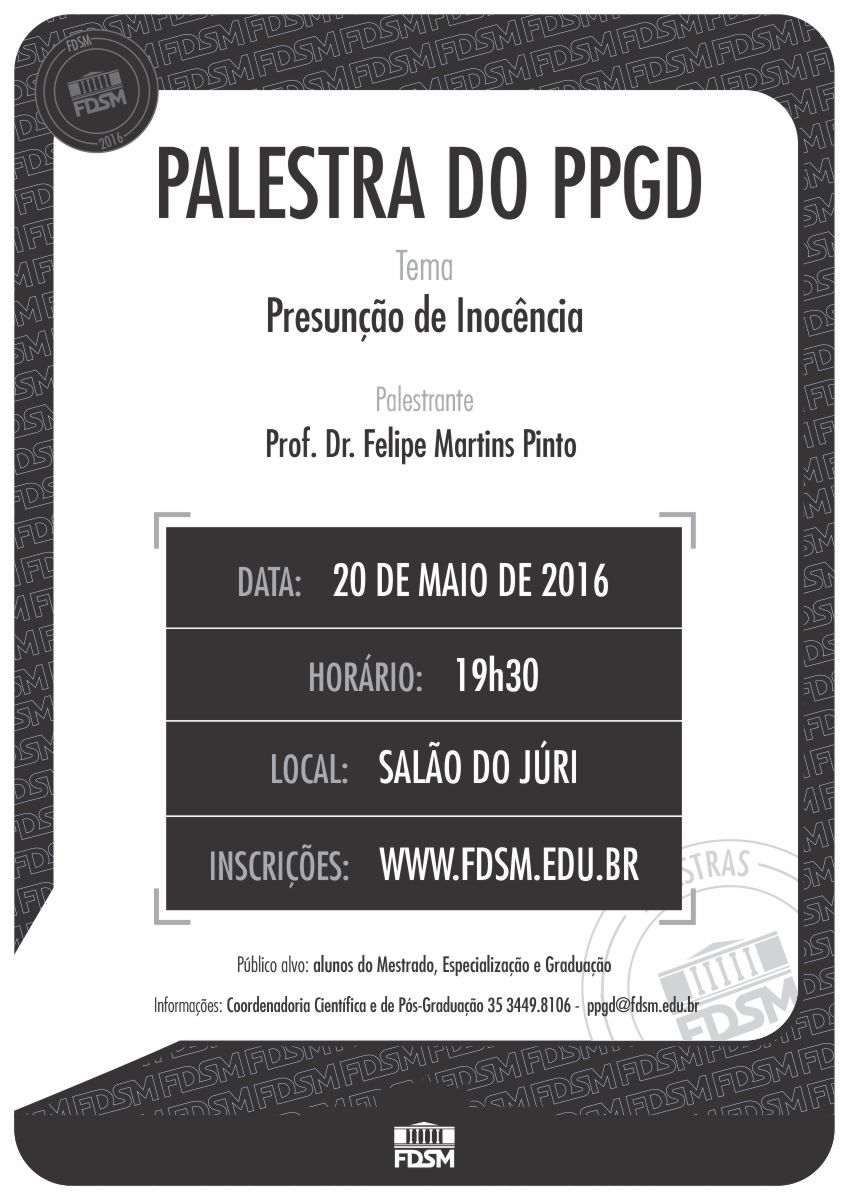 Cód 87: PALESTRA DO PPGD