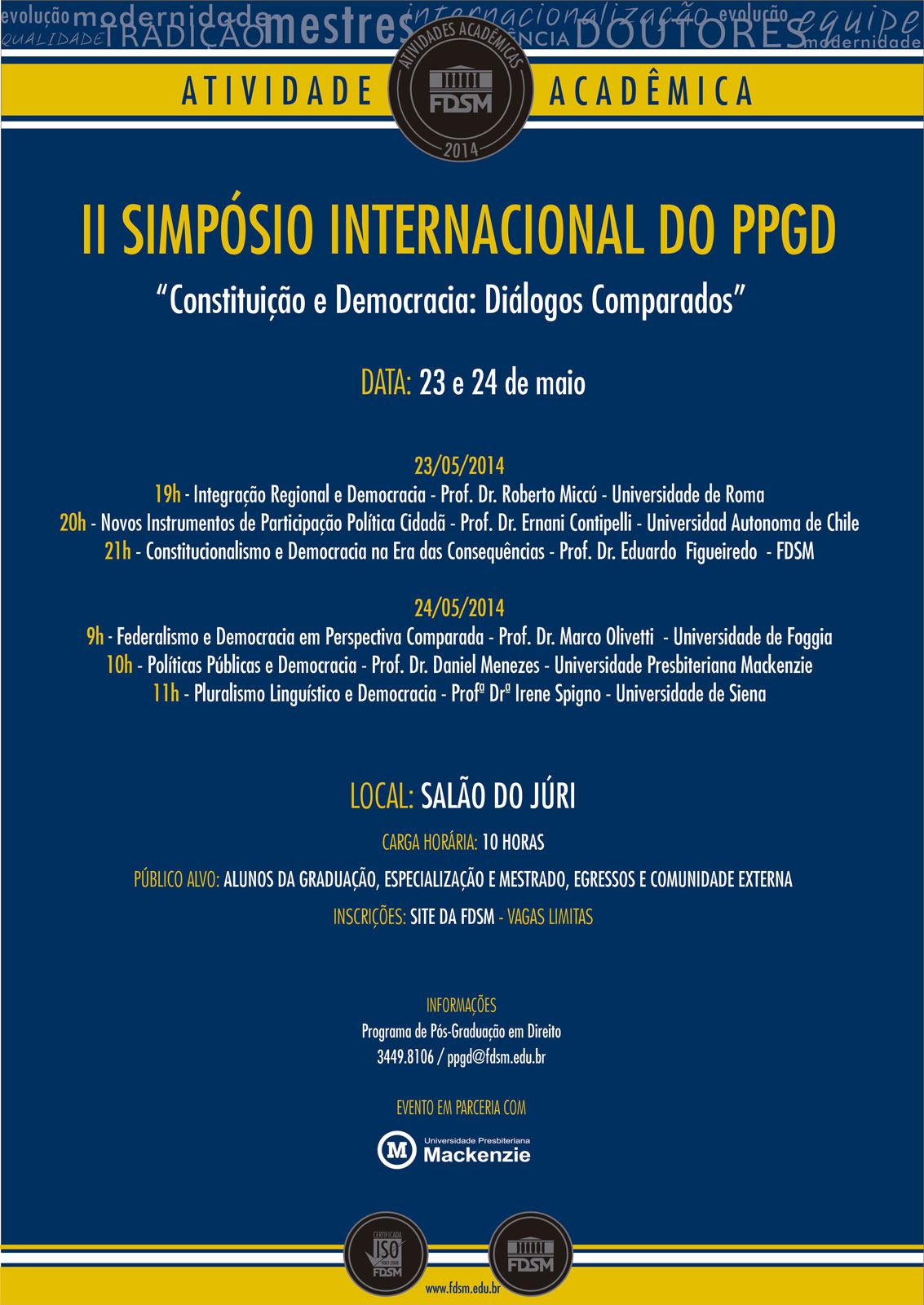 II SIMPÓSIO INTERNACIONAL DO PPGD