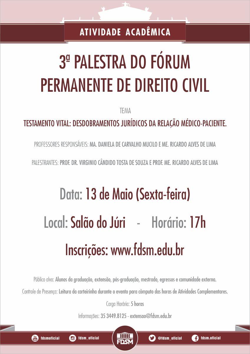 3ª Palestra do Fórum Permanente de Direito Civil
