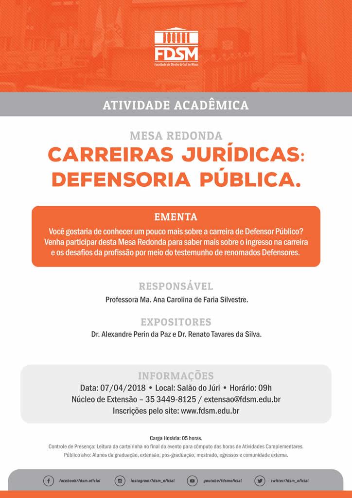 "Mesa Redonda ""Carreiras Jurídicas: Defensoria Pública"""