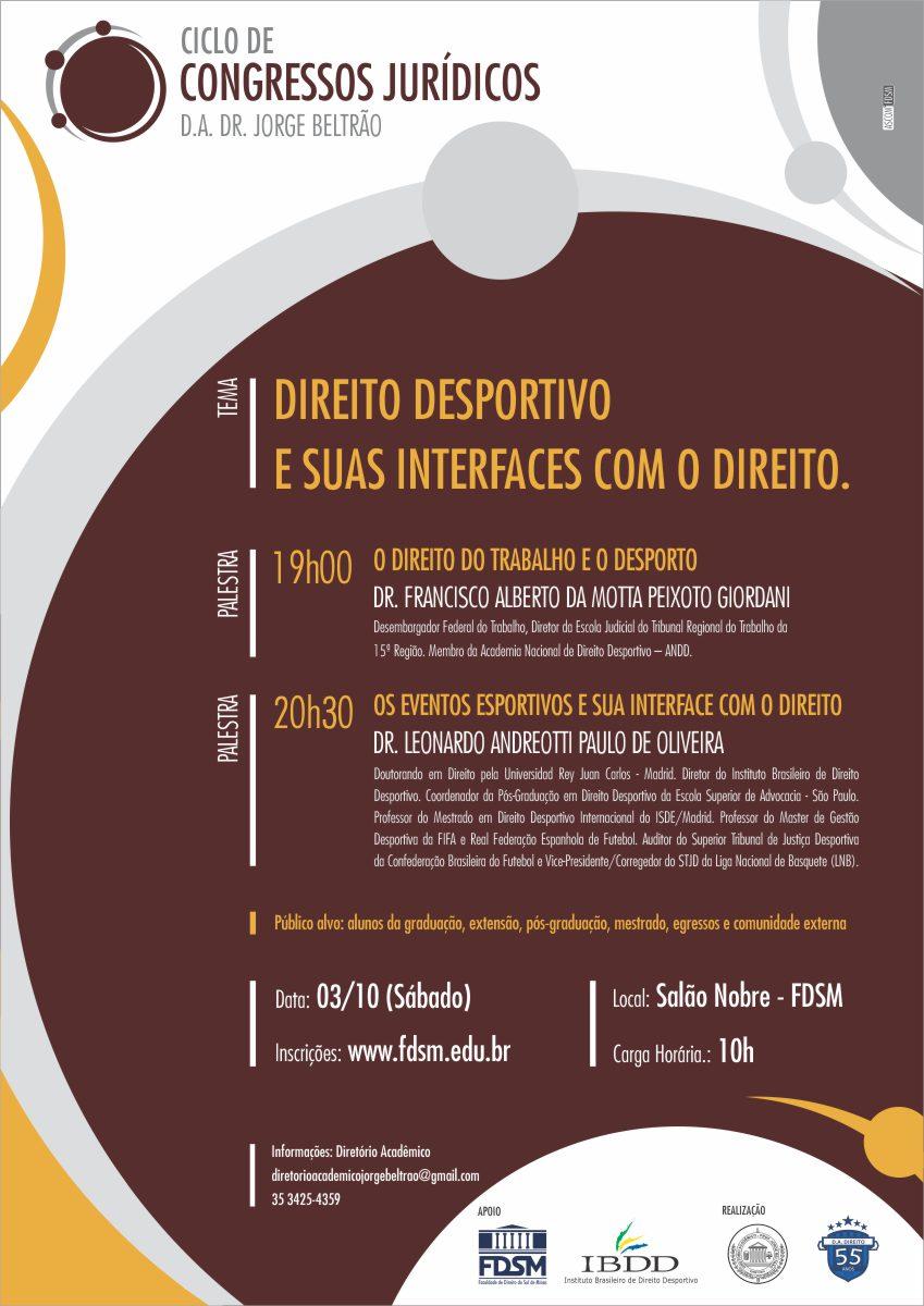 Congresso Jurídico do Diretório Acadêmico Professor Jorge Beltrão.