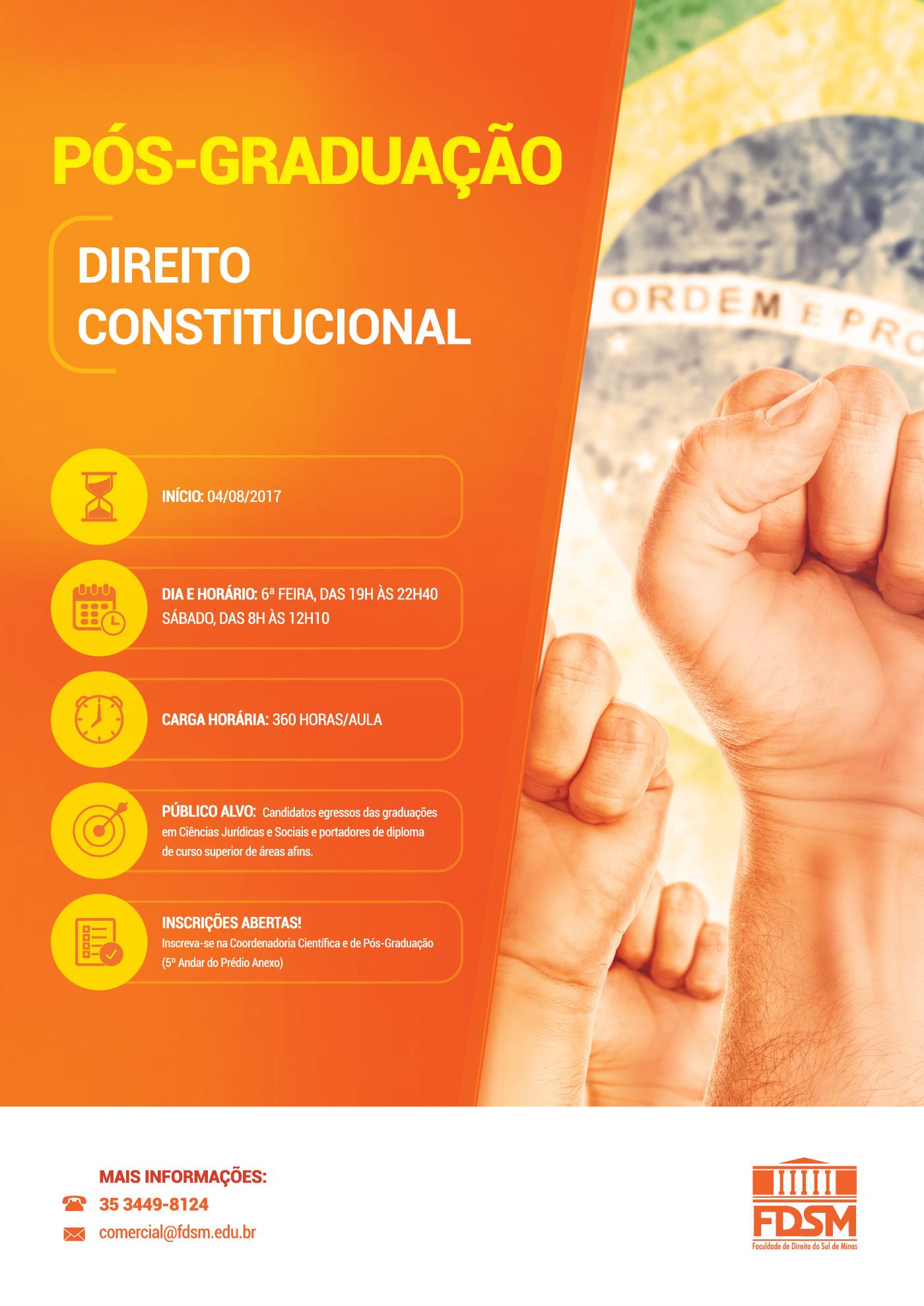 Noticia 3199 - PÓS-GRADUAÇÃO LATO SENSU EM DIREITO CONSTITUCIONAL