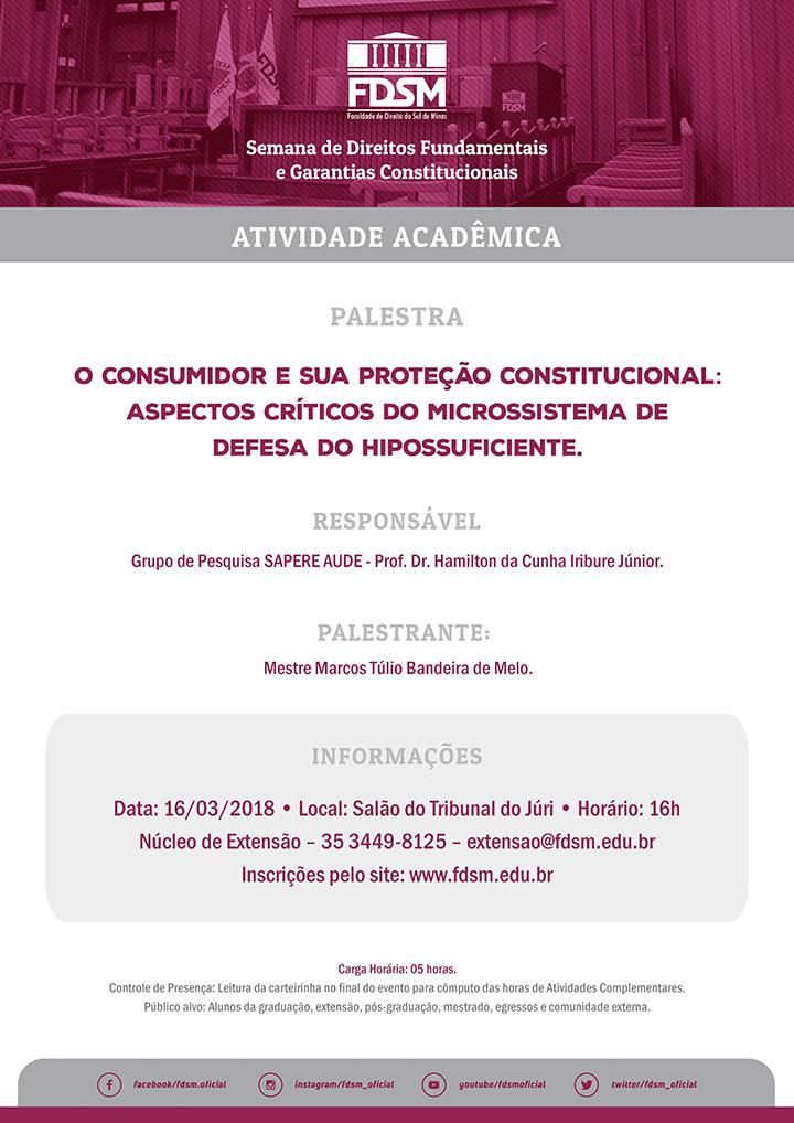 Palestra 'O Consumidor e sua Proteção Constitucional'